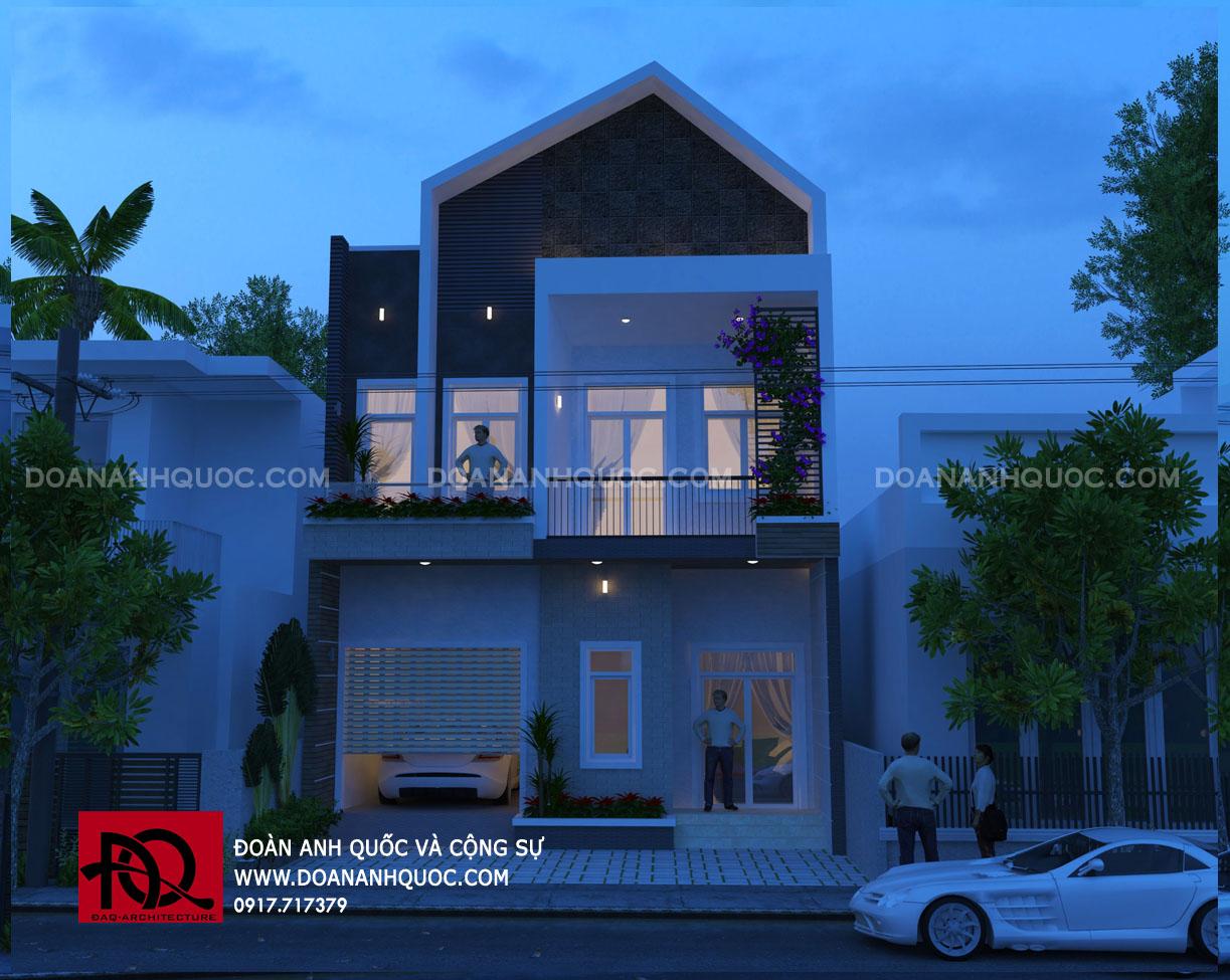 Kiến trúc nhà phố 2 tầng mặt tiền hiện đại Phan Thiết ...